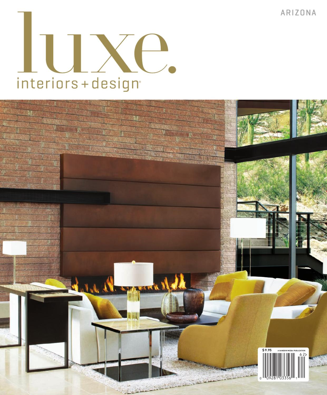 Luxe interior design arizona by sandow media issuu for Luxe furniture and design