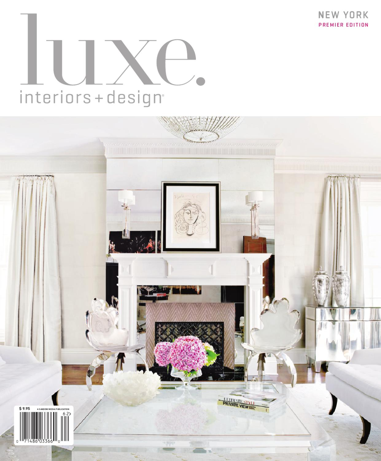 Luxe interior design new york by sandow media issuu for Luxe furniture and design