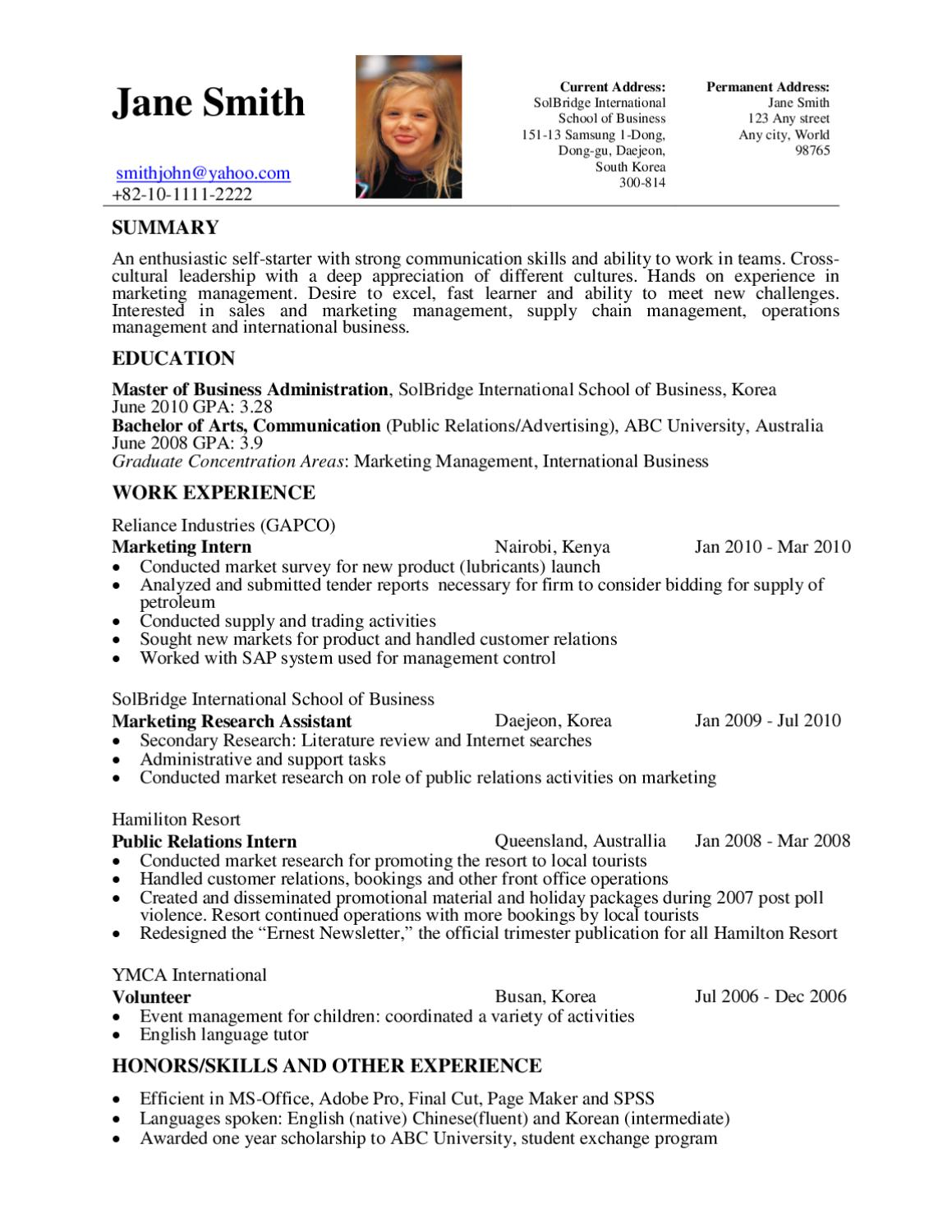 Resume Template By Sol Career Page 1 Issuu