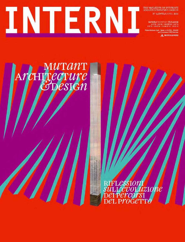 Interni magazine 610 april 2011 by interni magazine for Riviste di arredamento interni