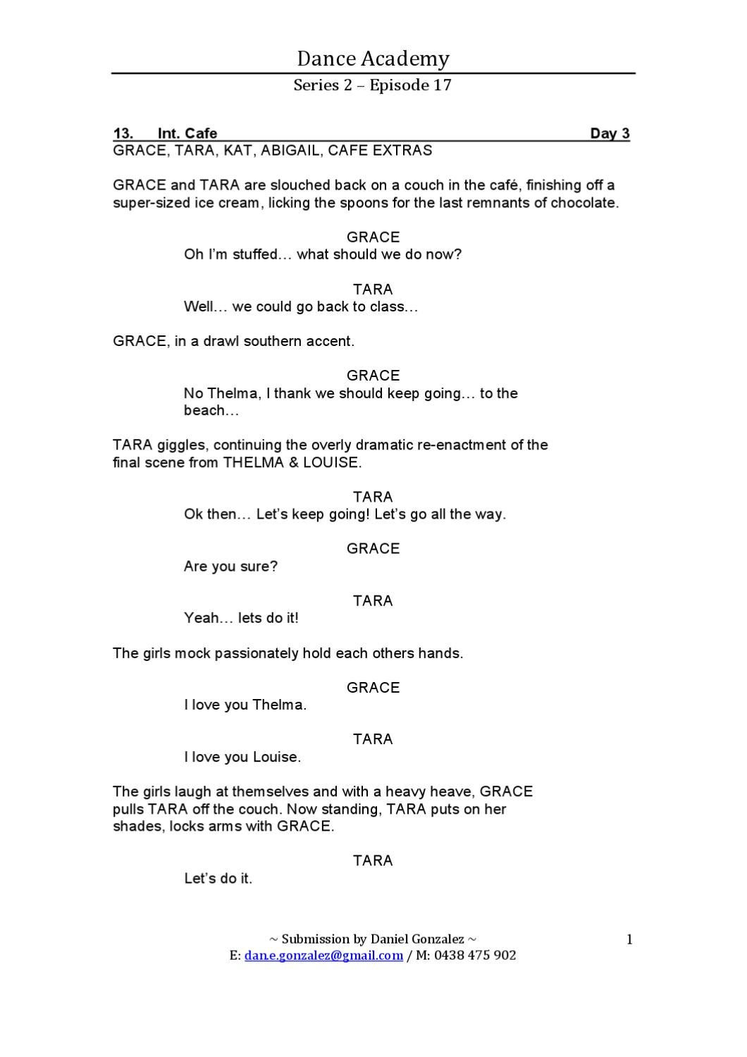 Thelma and louise script