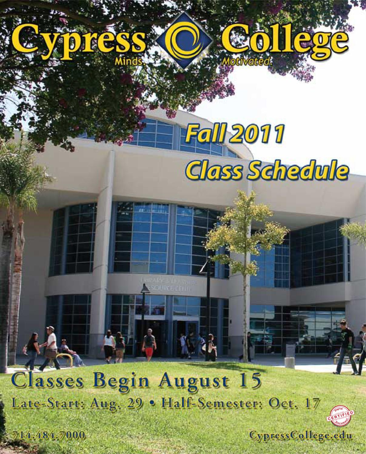 Cypress College Classes 2