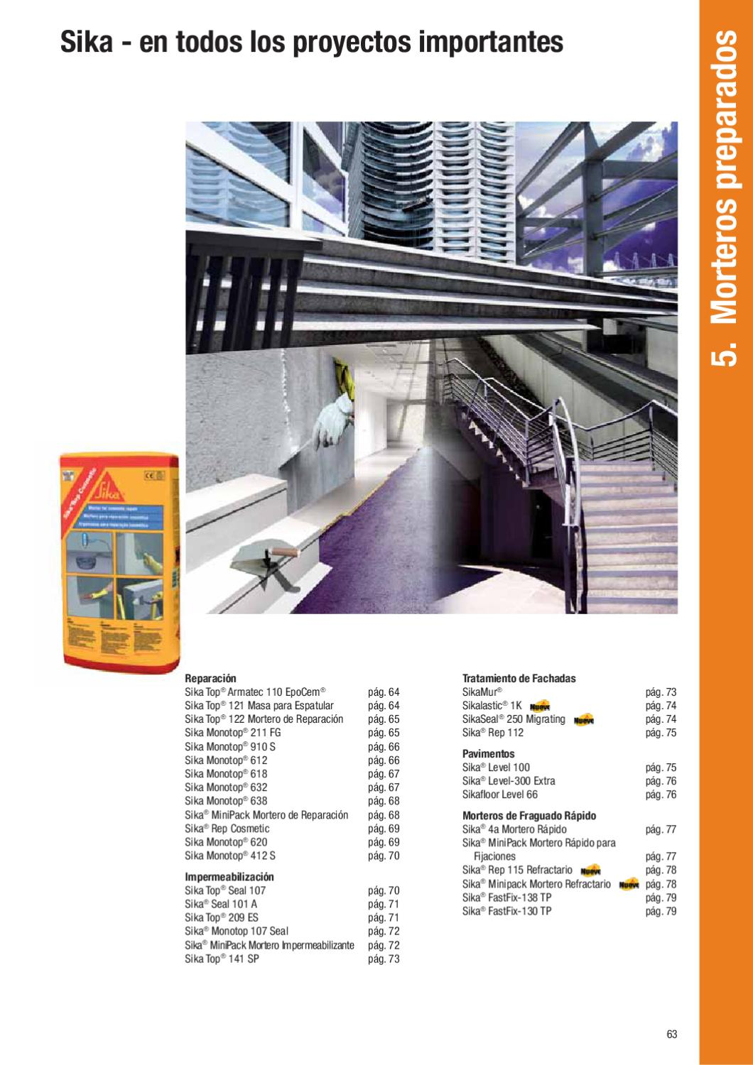 Gu a productos 2011 by sika es page 64 issuu - Sika monotop 620 ...