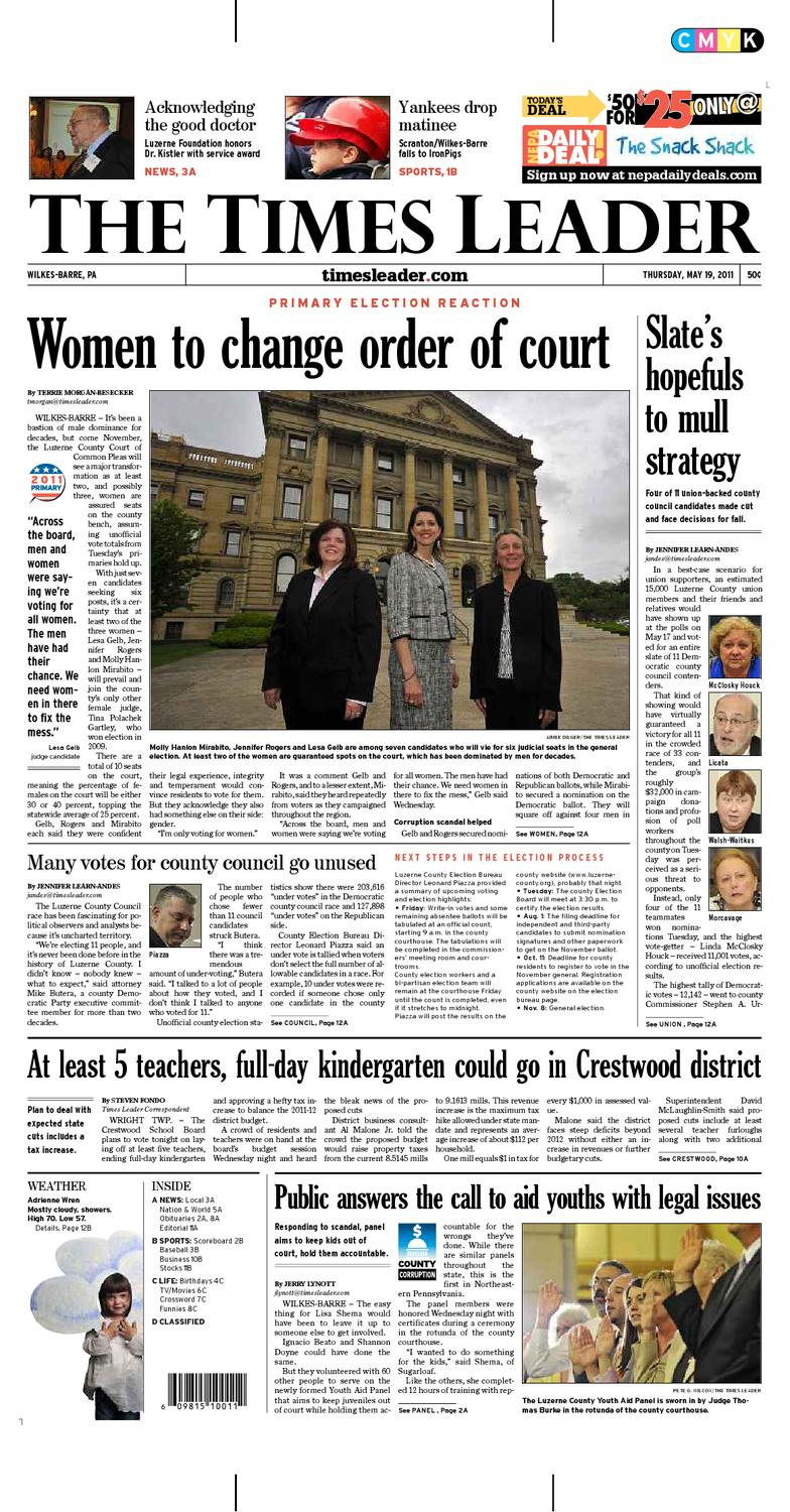 Times Leader 05 19 2011 By The Wilkes Barre Publishing