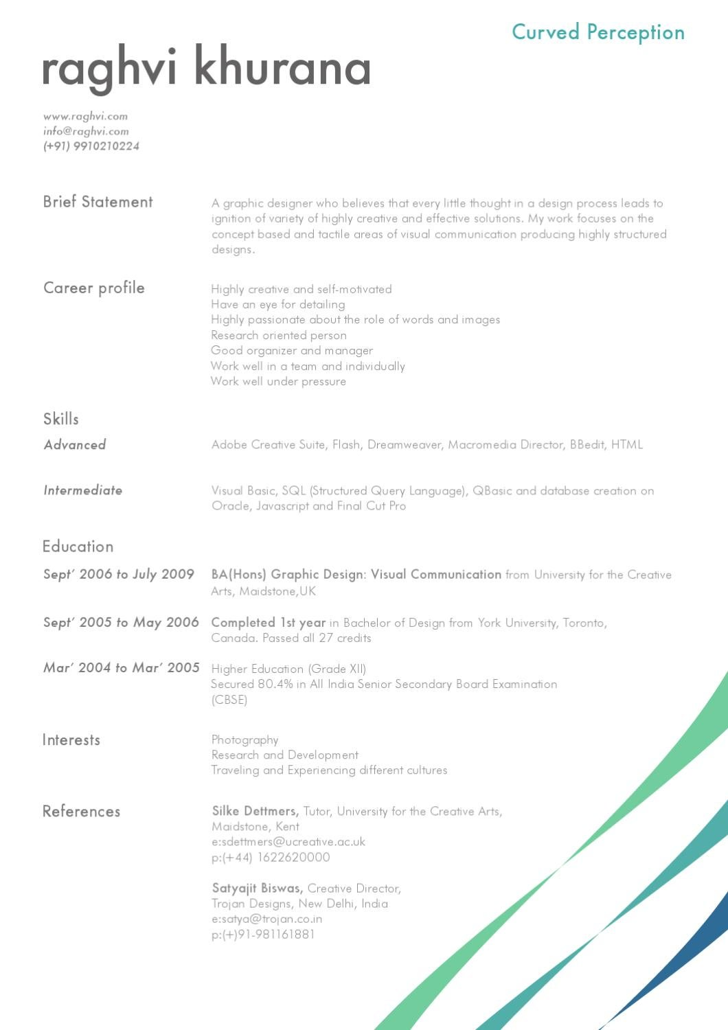 my personal cv by raghvi khurana issuu