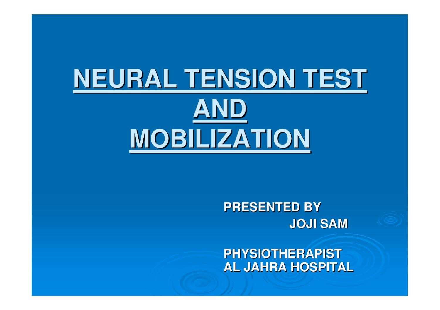 Upper Limb Tension Test 1  Special Tests