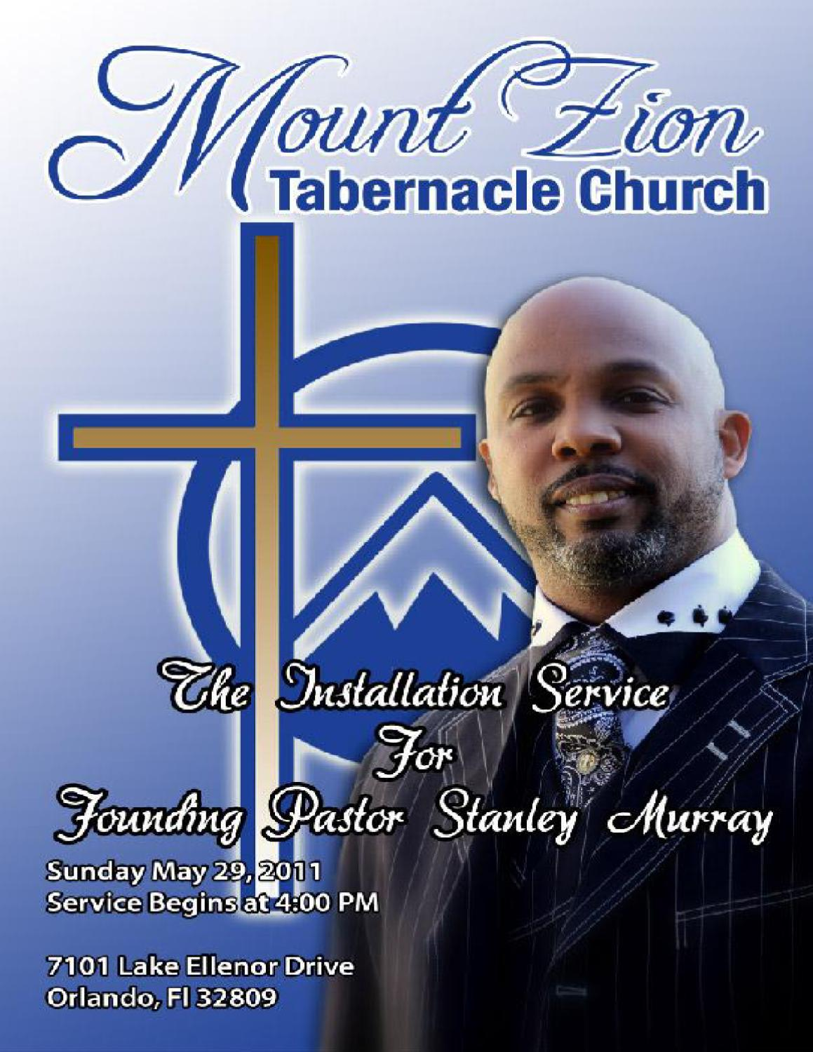 Mt. Zion Tabernacle Pastor Installation Service by Mt ...