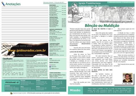 Boletim Informativo 12-06-2011
