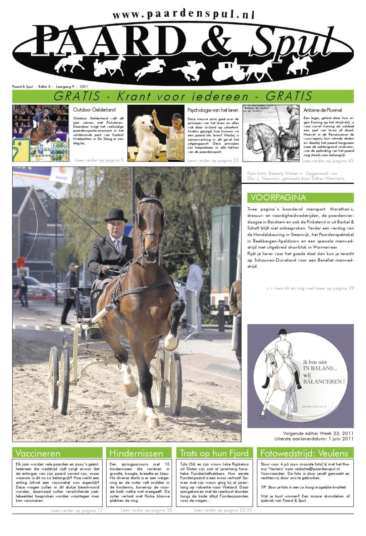 Paard Amp Spul Editie Mei 2011 By Mainpublishing Issuu