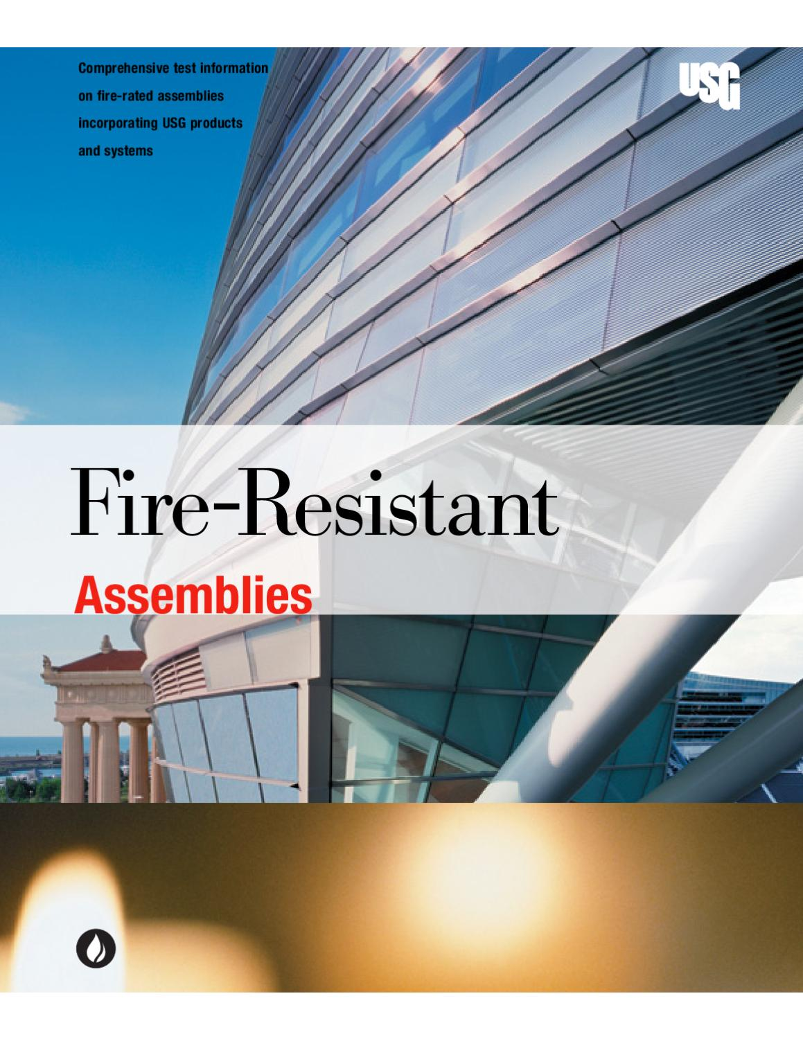 Fire resistant assemblies by macopa issuu for Fire resistant roofing
