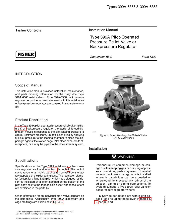 Fisher 133 Regulator Manual