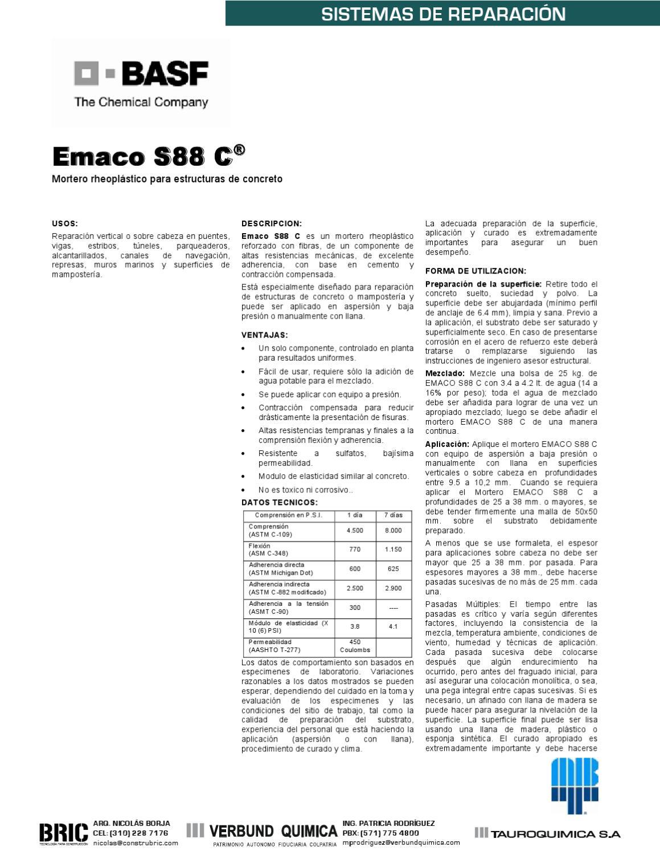 Bric sistemas de reparacion por basf by bric tecnolog a for Mortero de reparacion