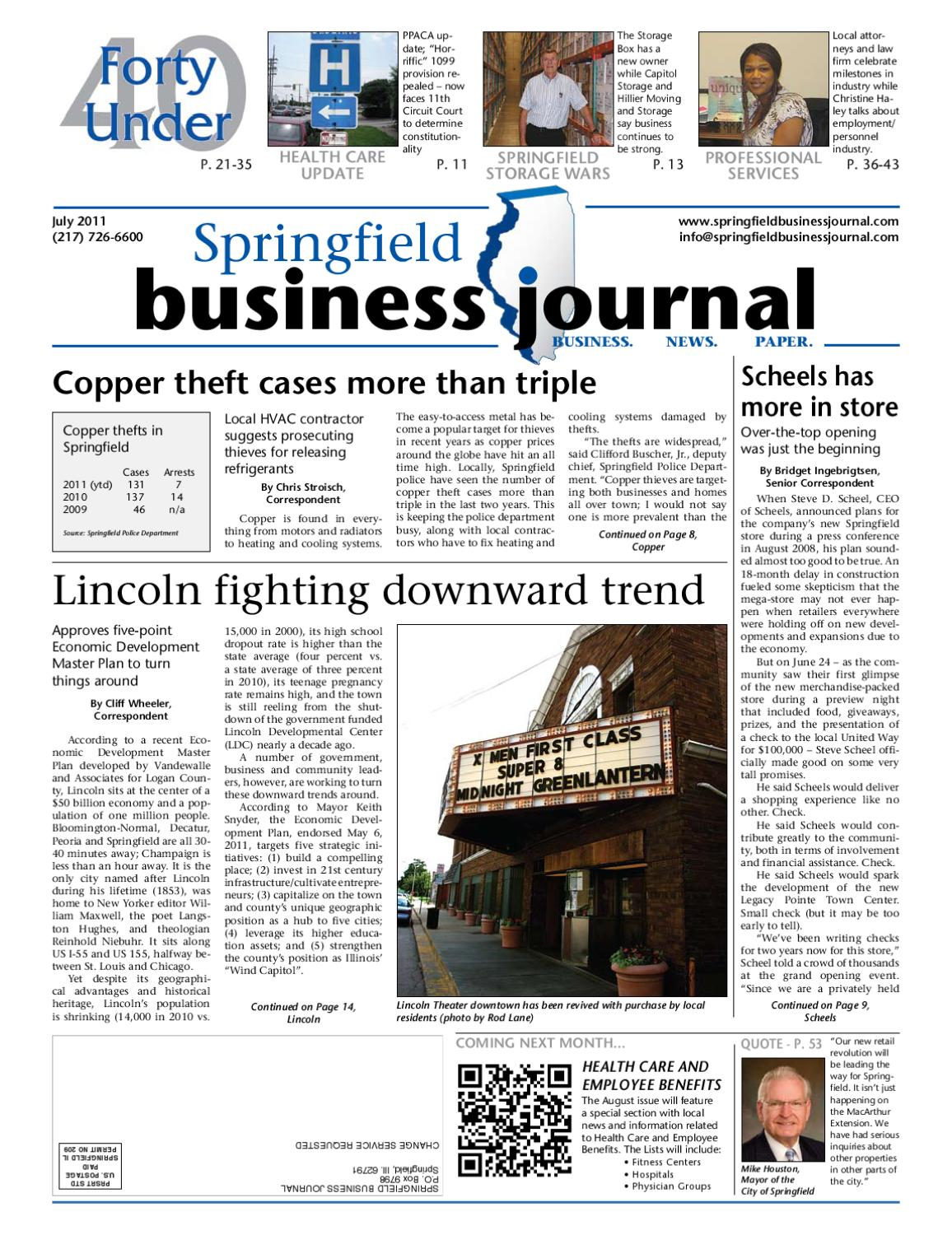 Springfield Business Journal July 2011 Springfield Il By Goweb1 Issuu