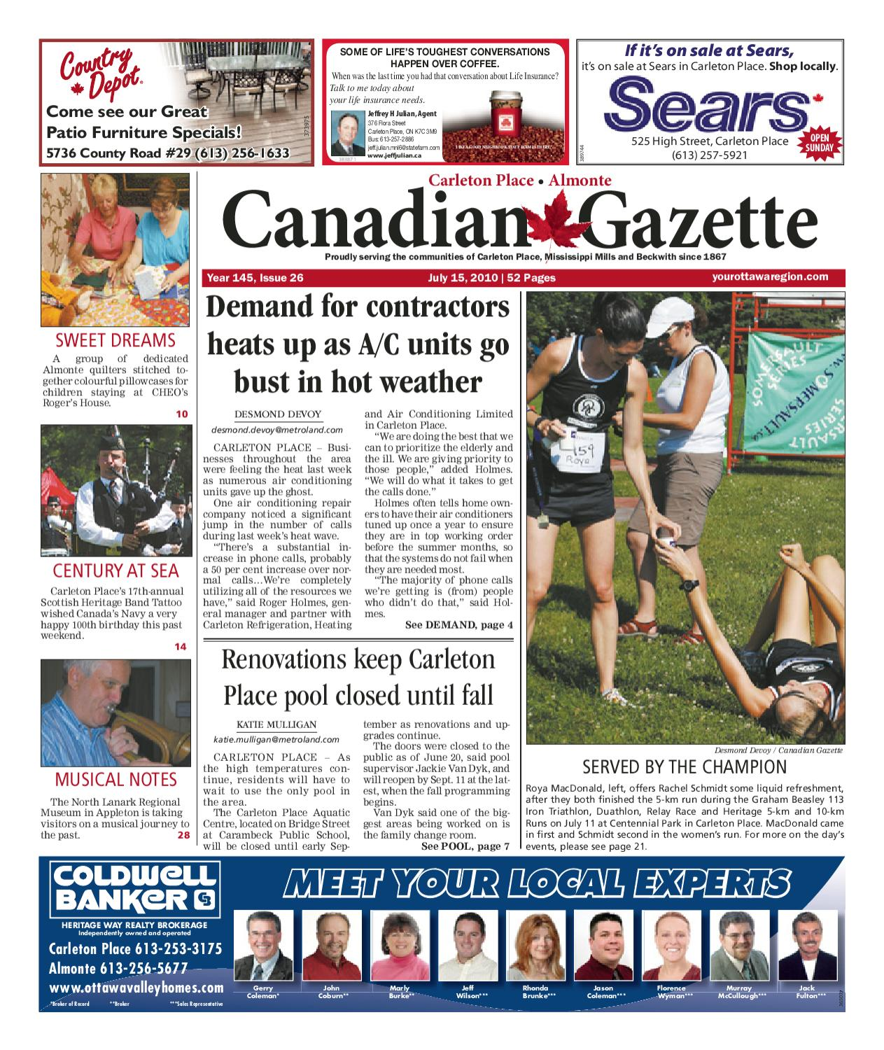 Carleton Place Almonte Canadian Gazette By Metroland Ottawa Issuu