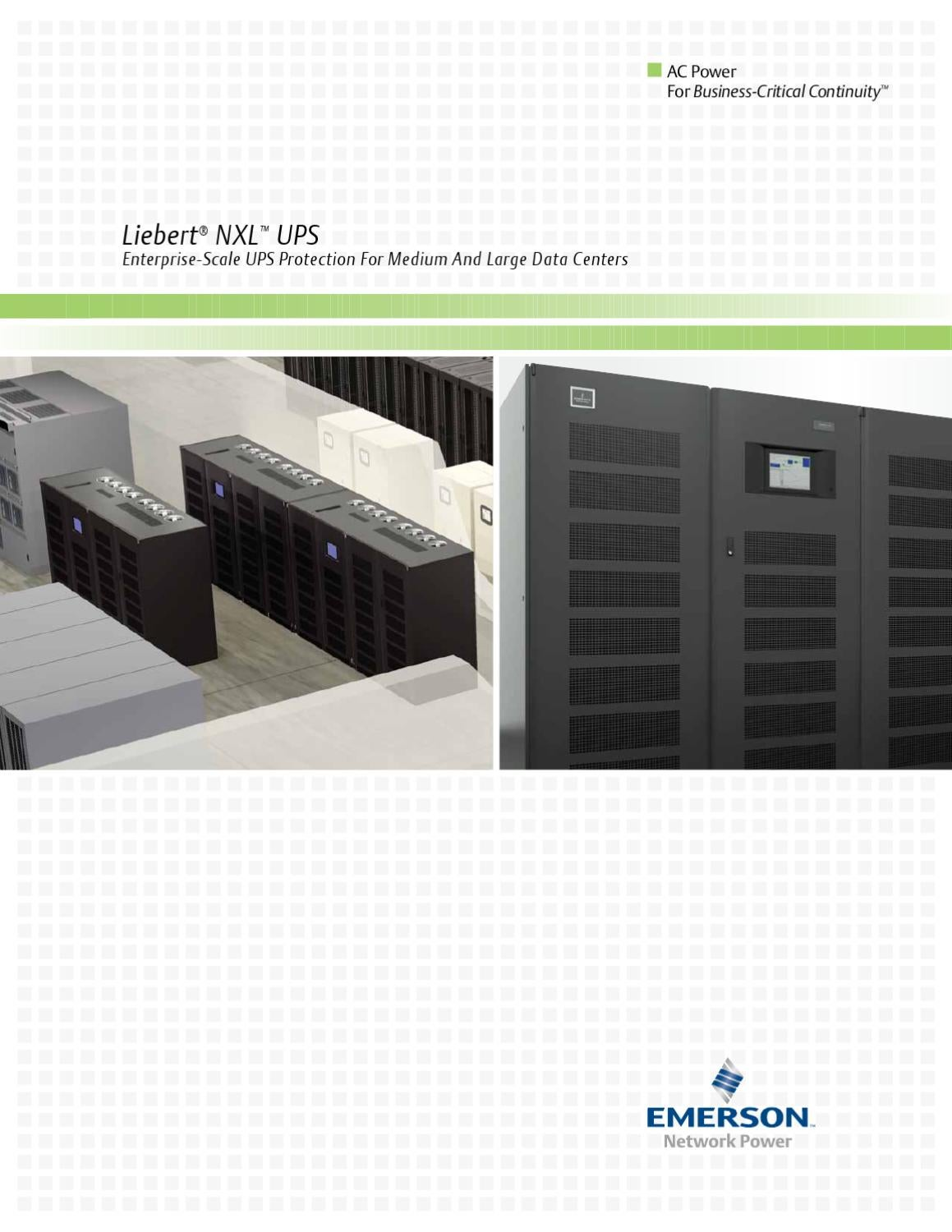 Emerson network power ups manual