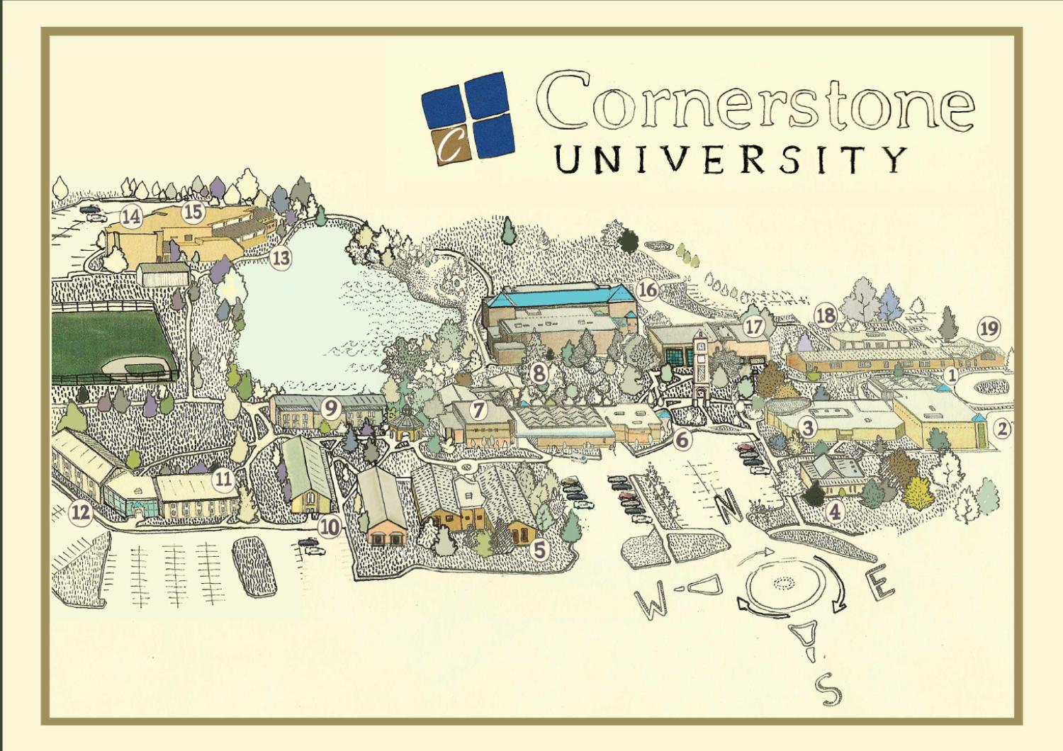 St Norbert College Campus Map.Walden University Counseling Program Cornerstone University Campus Map