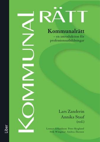 Kommunalrätt   en introduktion för professionsutbildningar av Lennart  Erlandsson b45a7432f865e