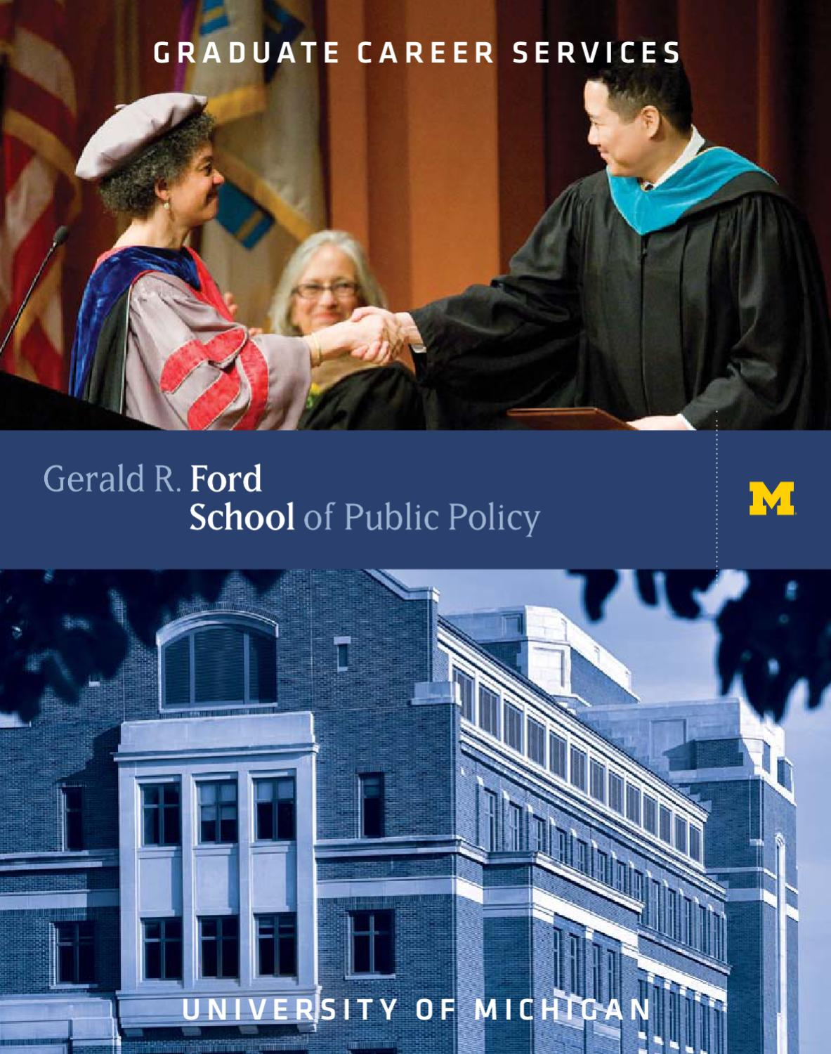 Graduate Career Services By Gerald R Ford School Of