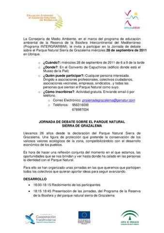 Jornada de Debate Parque Natural Sierra de Grazalema (Septiembre 2011)