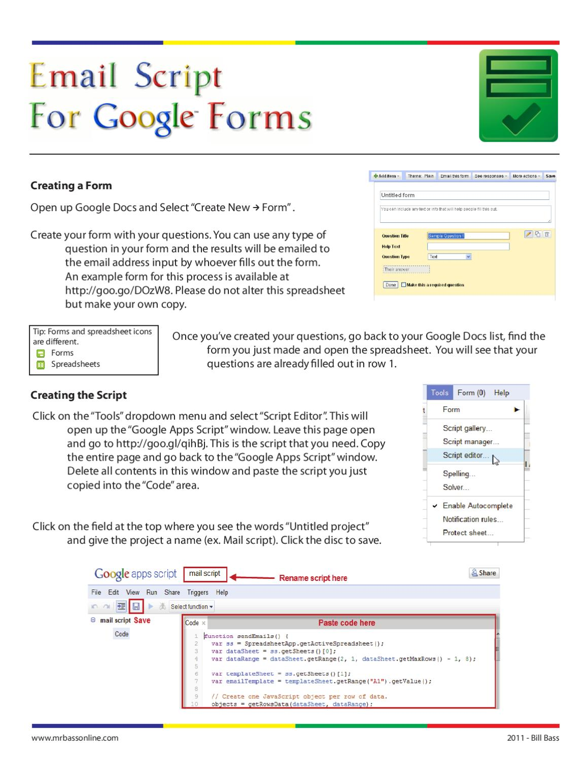 how to send an email by google scripts