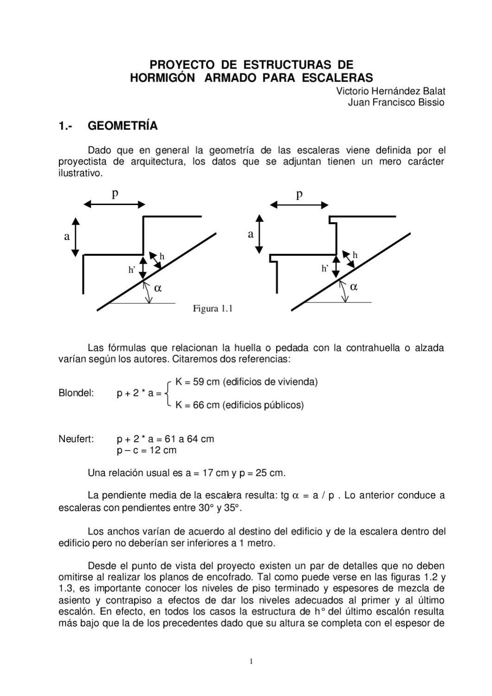 Calculo estructural de escaleras by rodrigo cuello issuu for Huella y contrahuella medidas