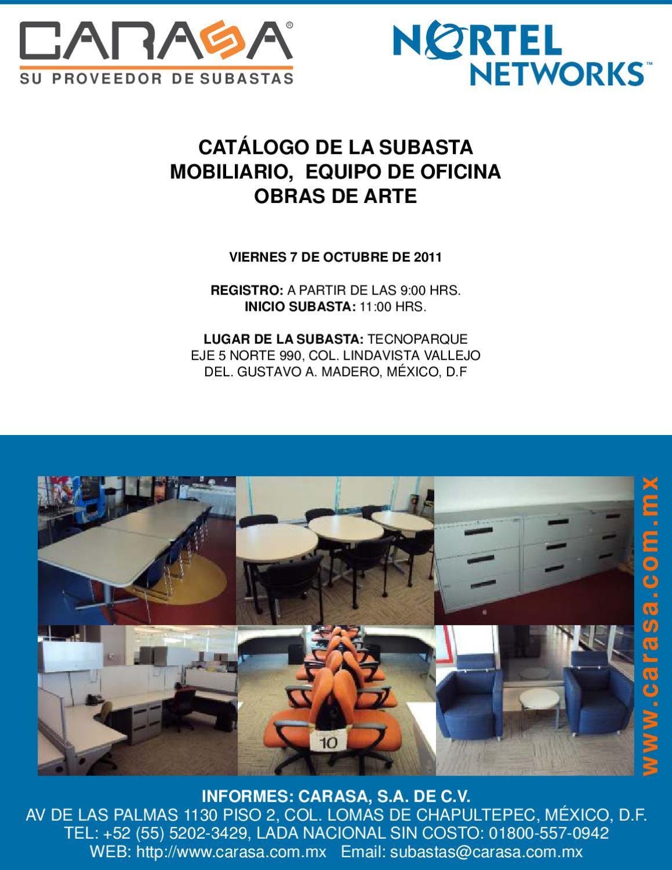 Suabsta mobiliario y equipo de oficina nortel by carasa s for Mobiliario y equipo