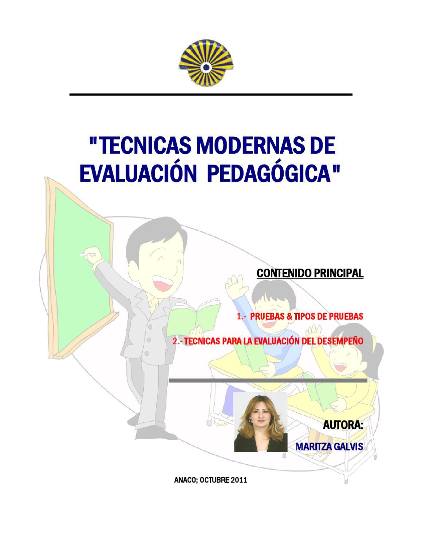 tecnicas modernas de evaluaci n pedag gica by maritza