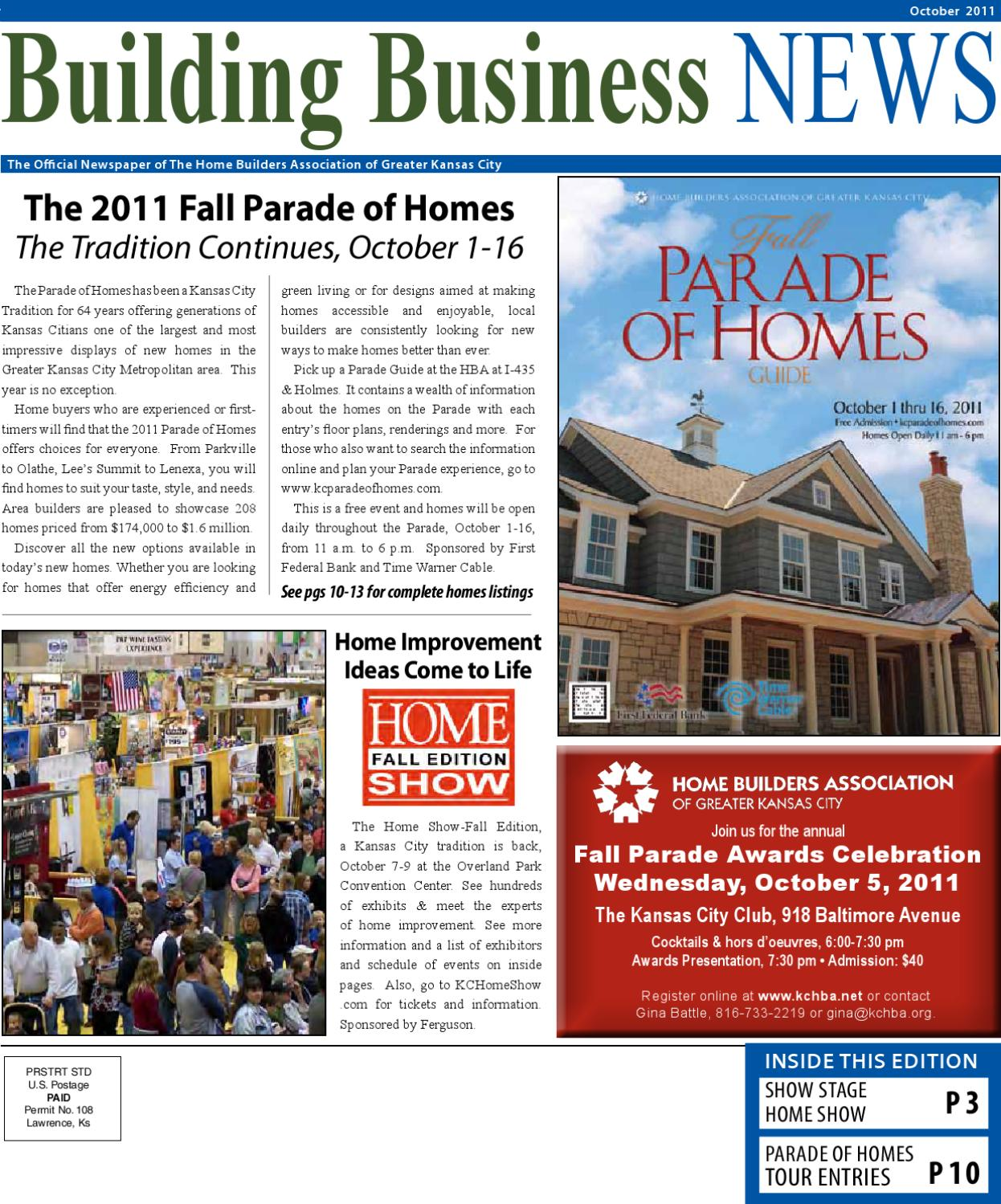 Building Business News October 2011 By Home Builders