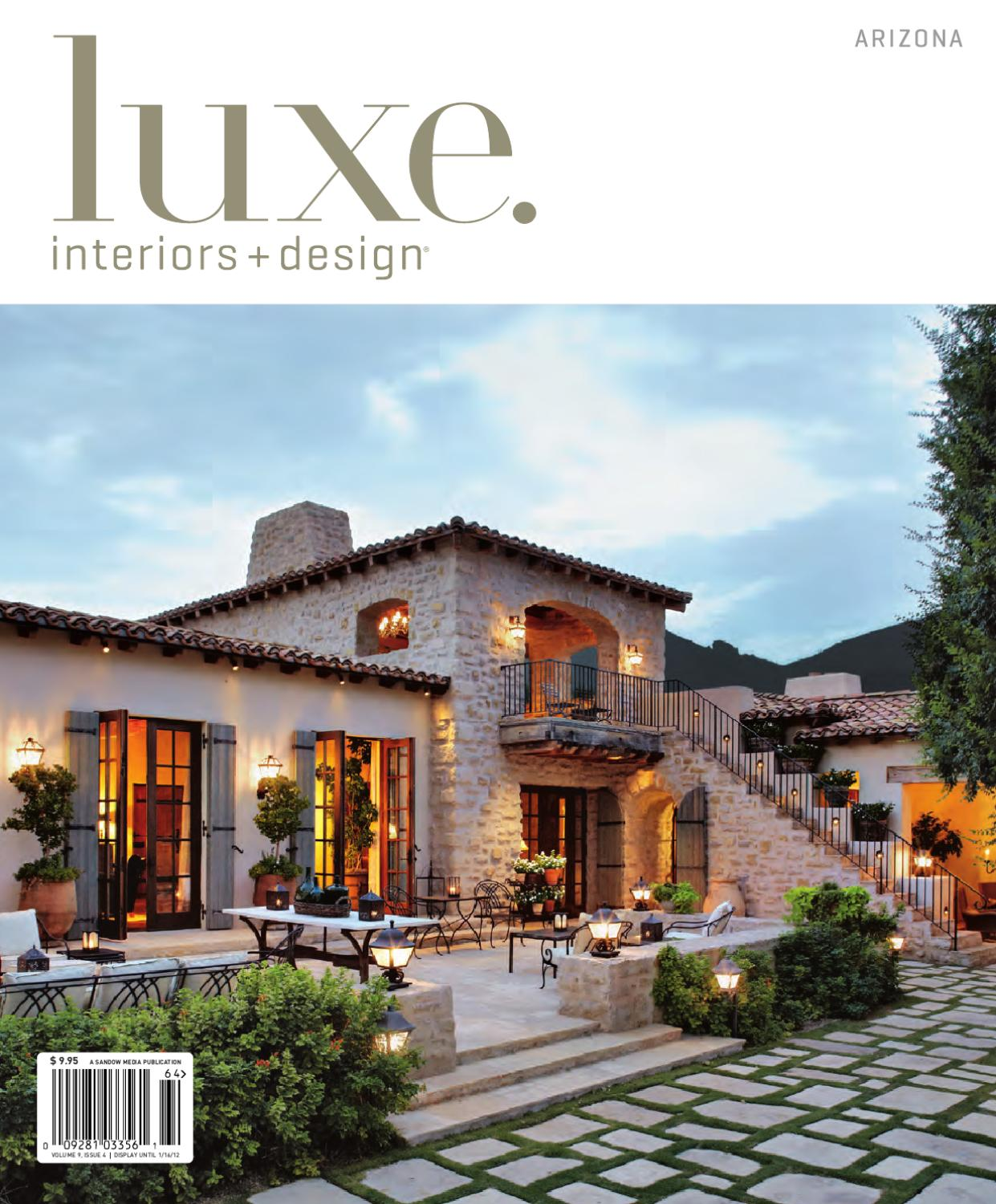 Luxe interior design arzona 13 by sandow media issuu for Luxe furniture and design