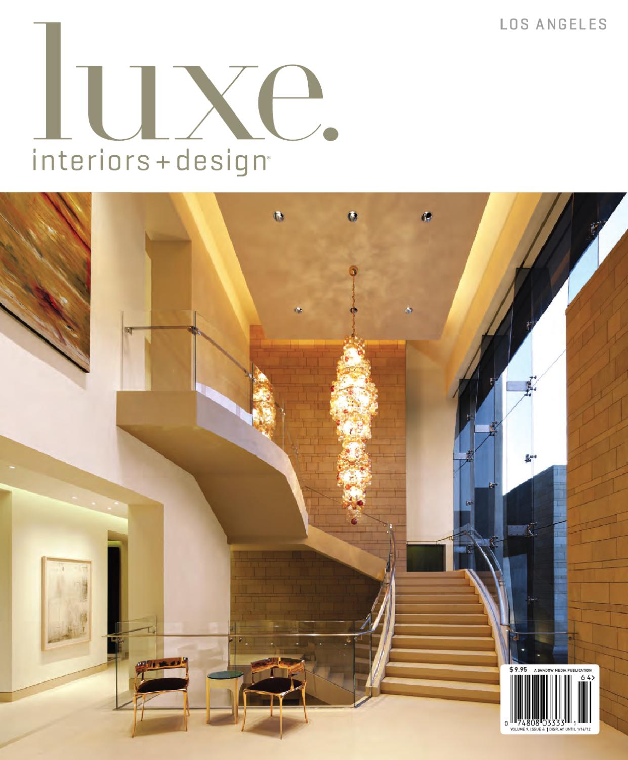 Luxe interiors design los angeles 17 by sandow media issuu for Interior design los angeles