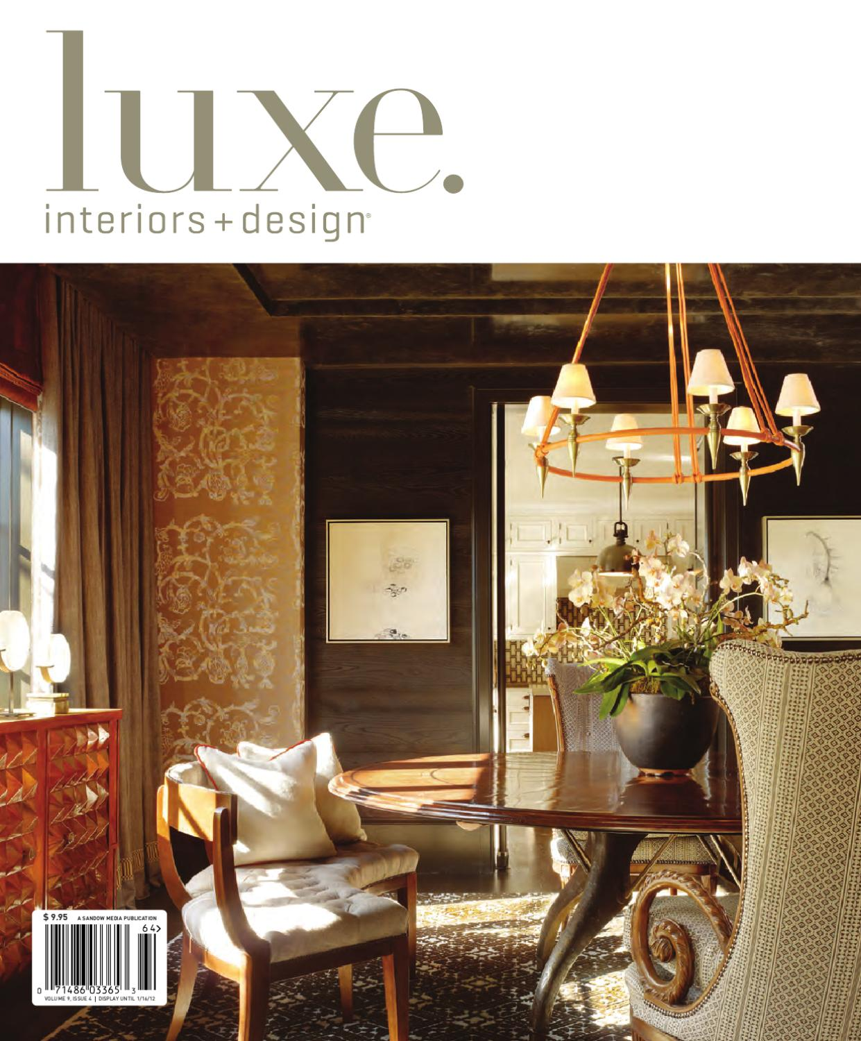 luxe interiors design national 10 by sandow media issuu. Black Bedroom Furniture Sets. Home Design Ideas