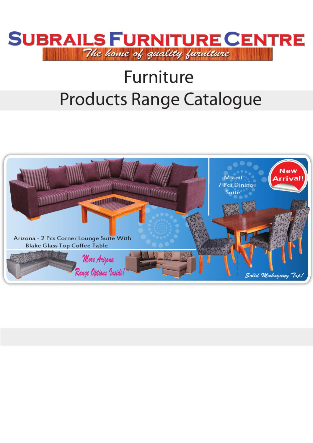 Subrails Furniture Centre Product Catalogue By Subrails