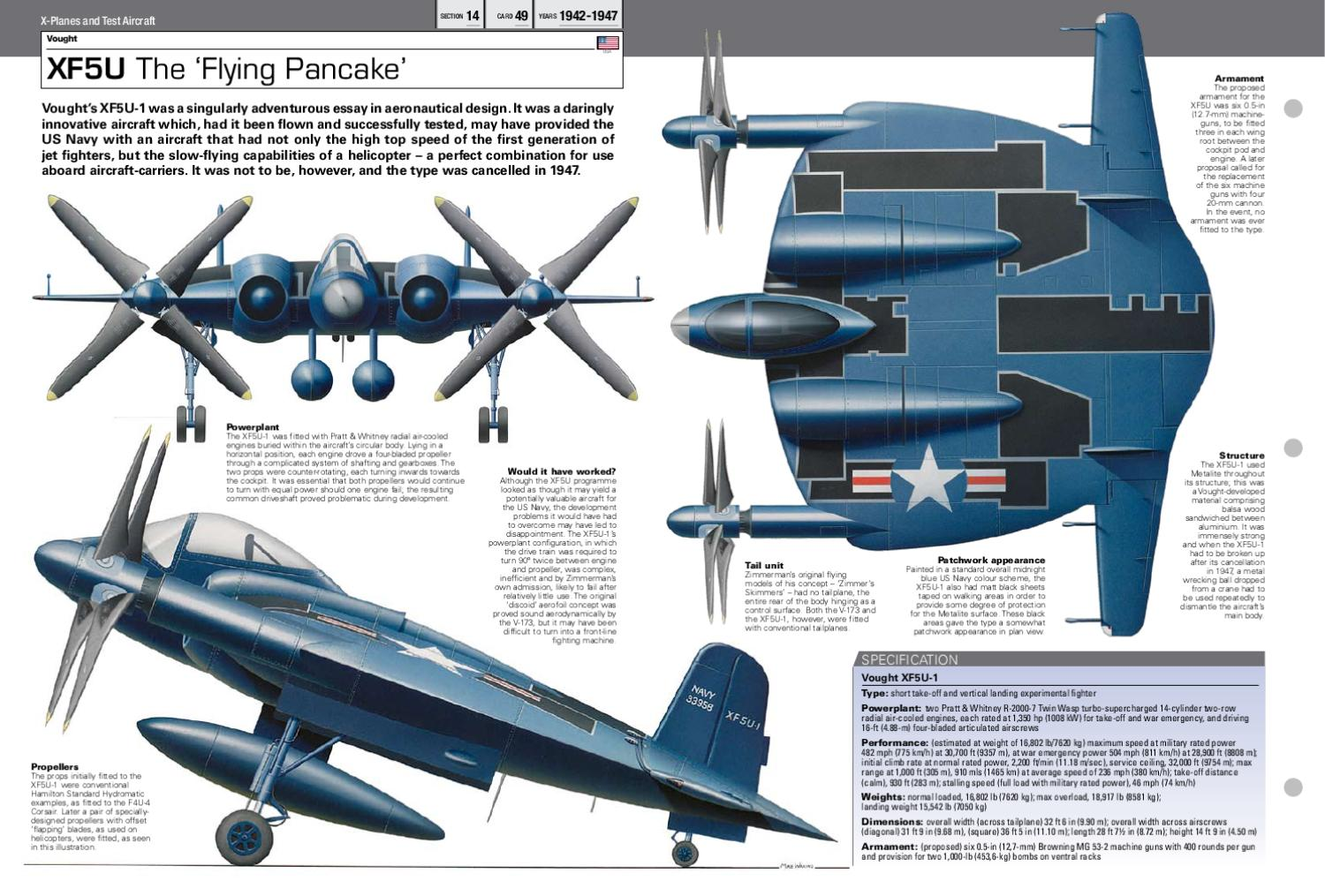 06_Vought_XF5U_X-Planes and Test Aircraft by Yvette Chiu - issuu