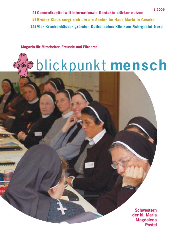 blickpunkt mensch 1 2009 by schwestern der heiligen maria. Black Bedroom Furniture Sets. Home Design Ideas