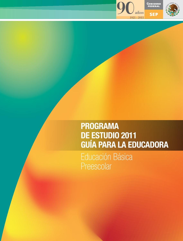 Gu a para la educadora educaci n b sica preescolar by for Programa curricular de educacion inicial