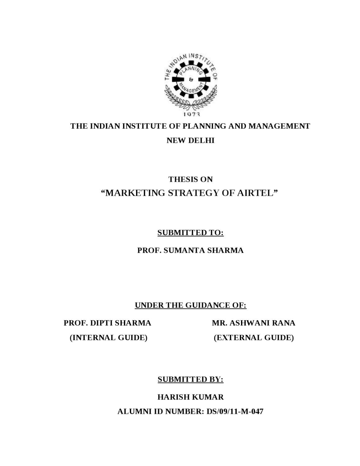 Is it a good title for dissertation ' brand awareness of Airtel?