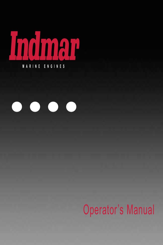 2008 to 2009 indmar operators manual by natalie carrera issuu Indmar Marine Engine Schematic Of Indmar Engine Parts