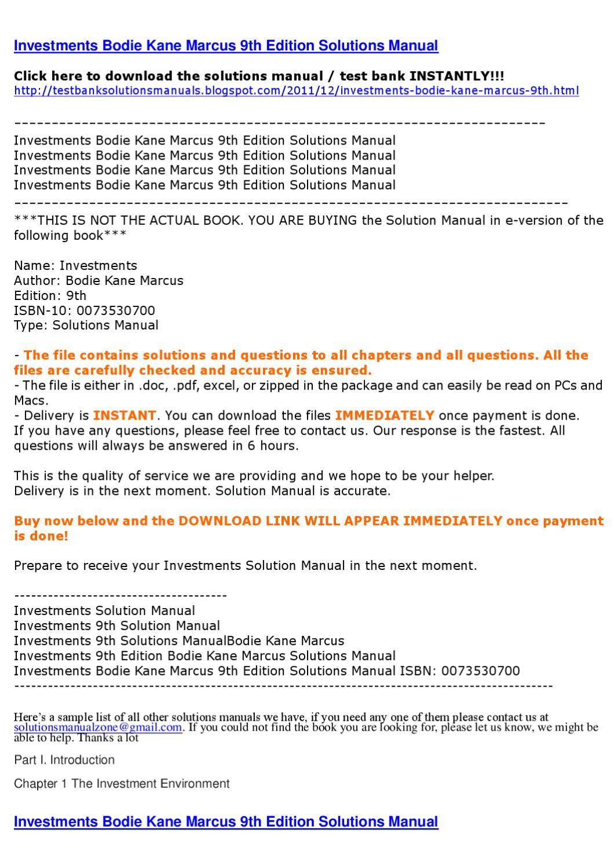 investments 9th edition bodie kane marcus chapter 18 problem set com rh qualityinnsantaclaraca com