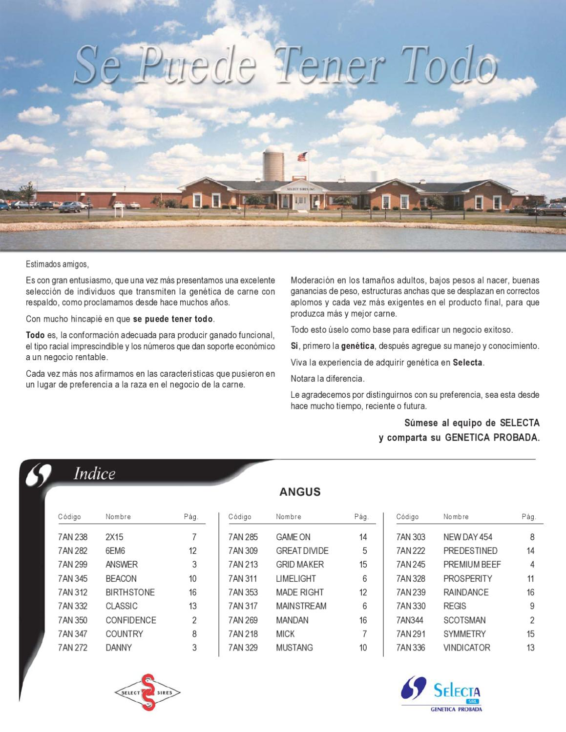 Catalogo razas de carne by selecta srl issuu for Catalogo selecta