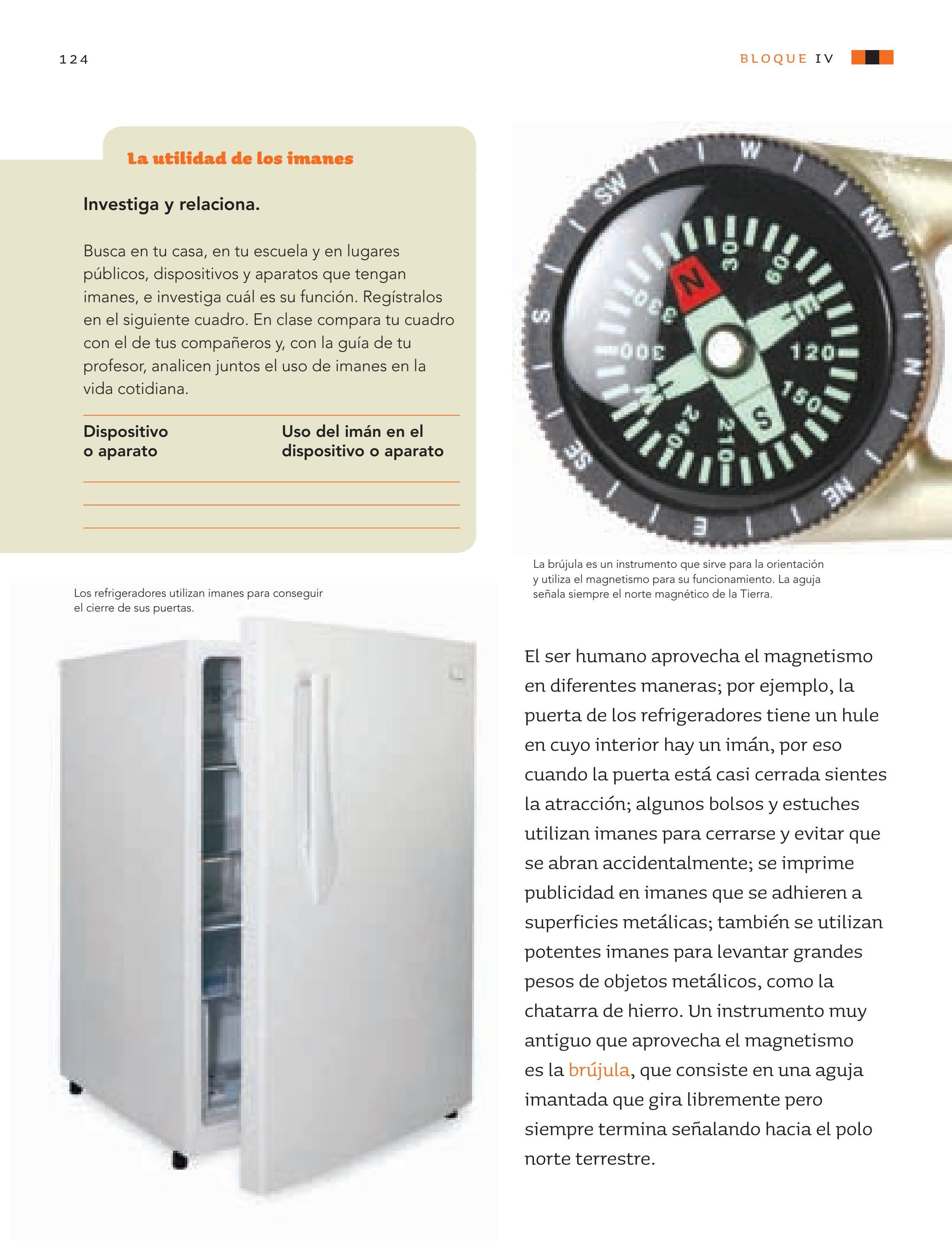 Ciencias naturales 3er grado by rar muri page 126 issuu - Imanes para puertas ...