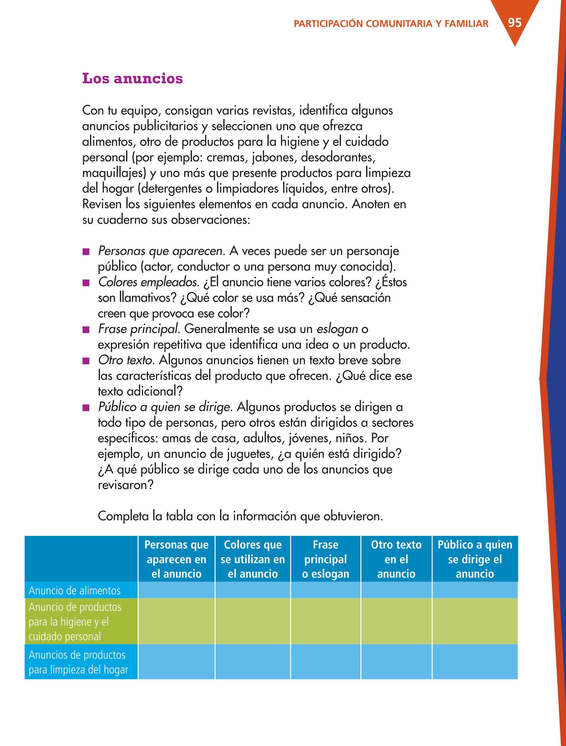 Espa ol 4to grado by rar muri page 97 issuu for Anuncios de productos de limpieza