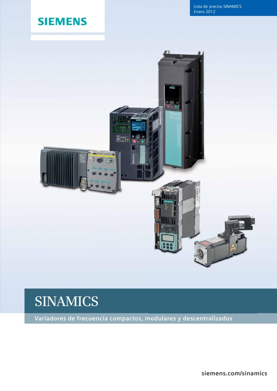 Siemens Tarifa Variadores Sinamics Enero 2012 By Pablo