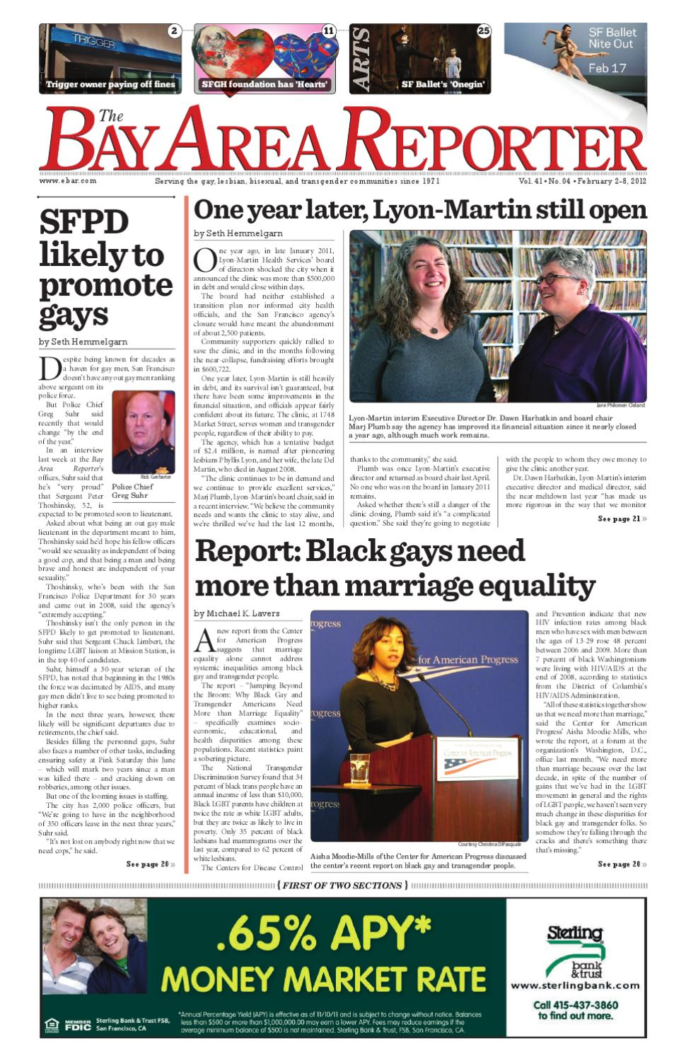 Bay Area Reporter : February edition of the bay area reporter by