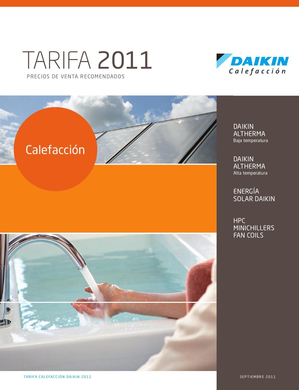 Tarifa daikin calefacci n by distribuciones casamayor issuu for Tarifa roca calefaccion