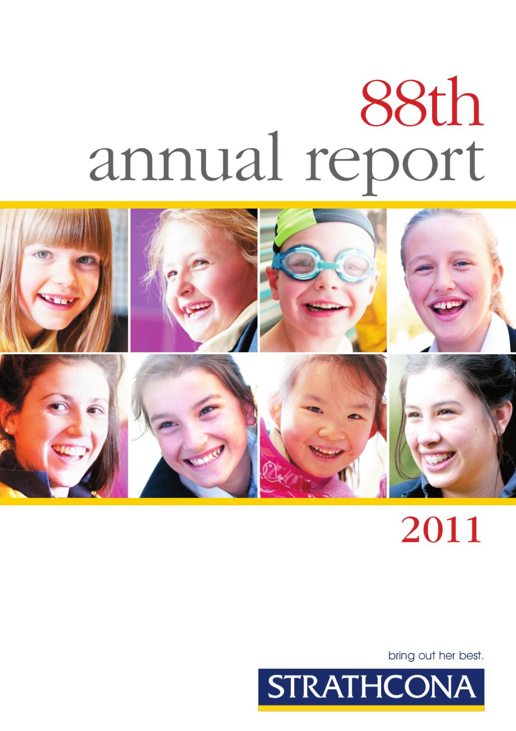 presenting fairholme highlights achievements by info design strathcona annual report 2011