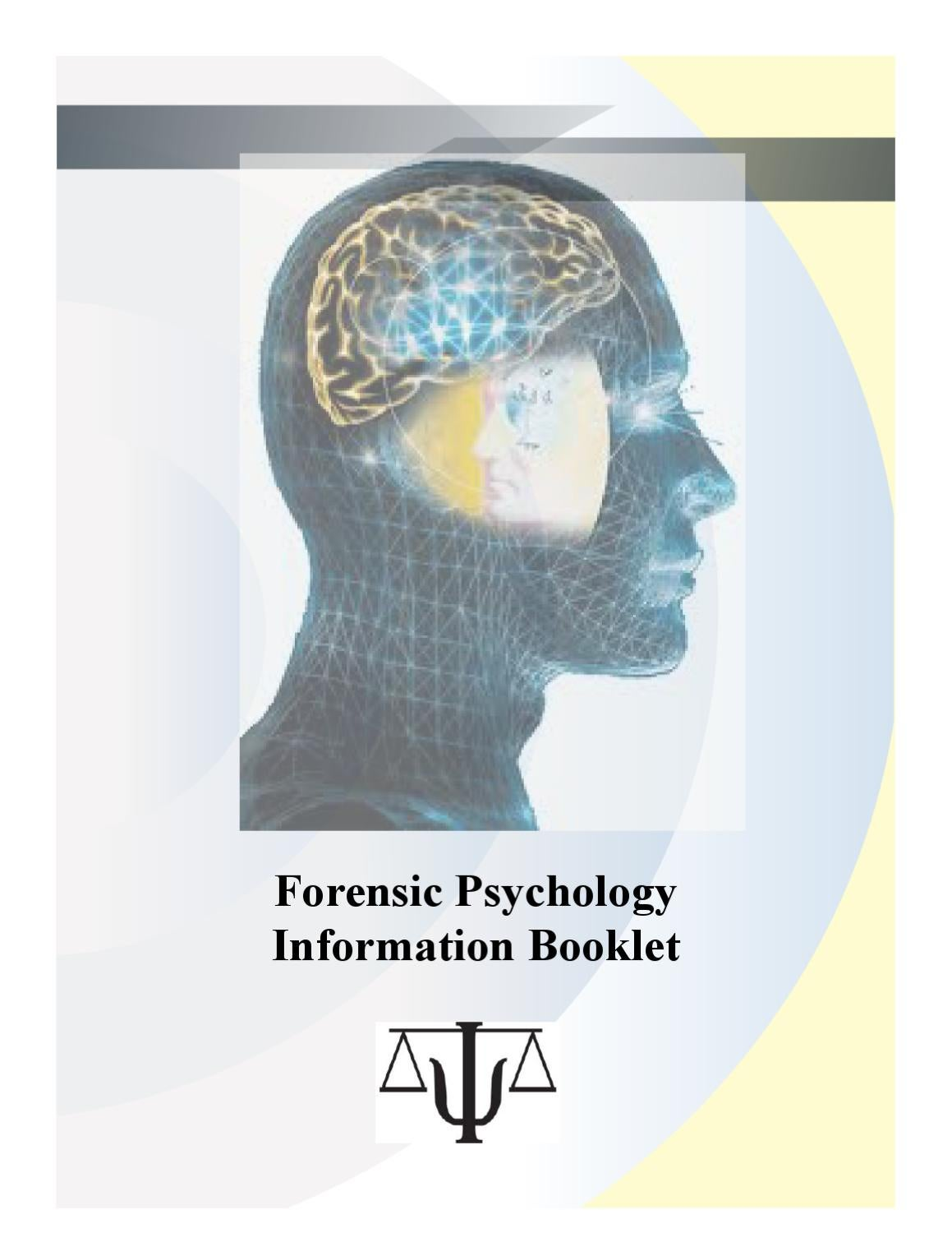 Forensic Psychology Booklet By Angela Florian Issuu