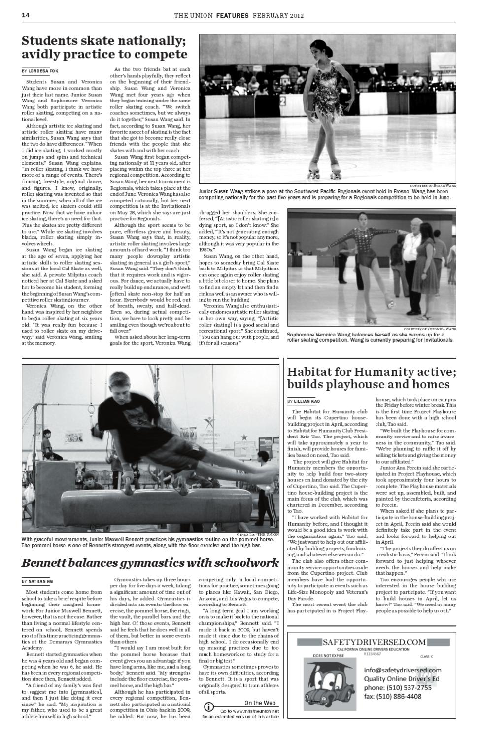 Roller skating rink milpitas - The Union Milpitas High School February 2012 By Mhs Journalism Page 14 Issuu