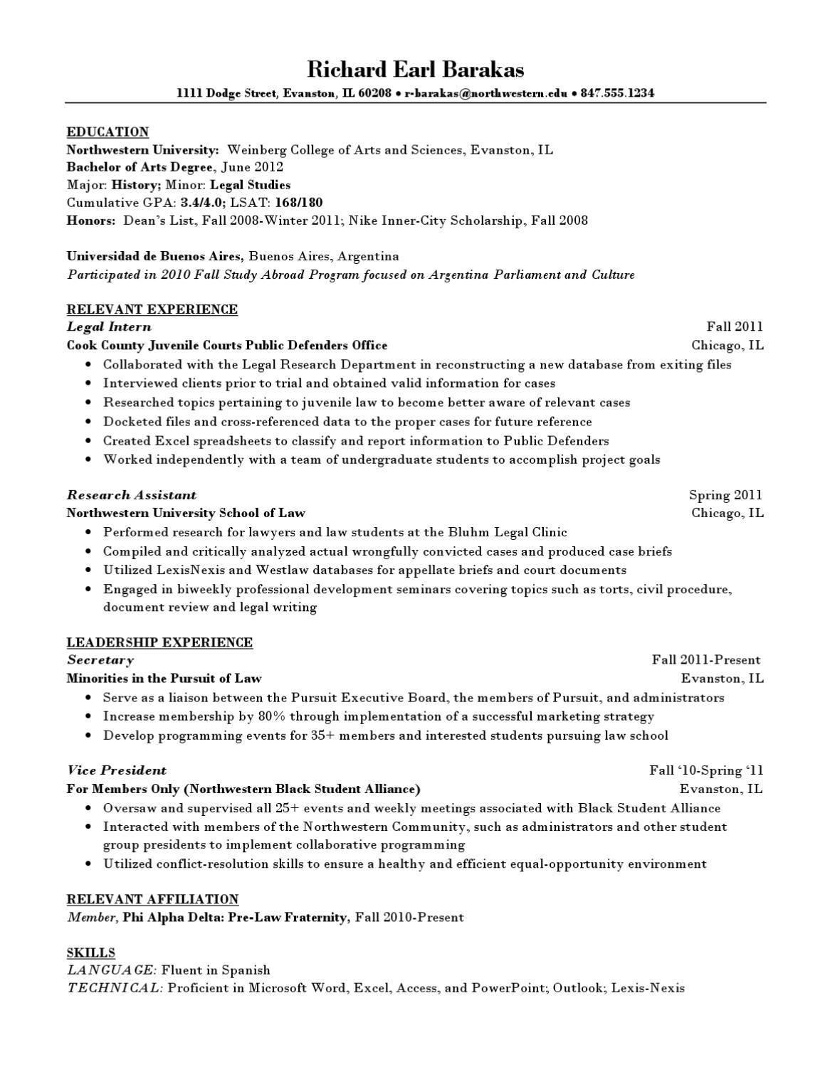 how to list law degree on resume