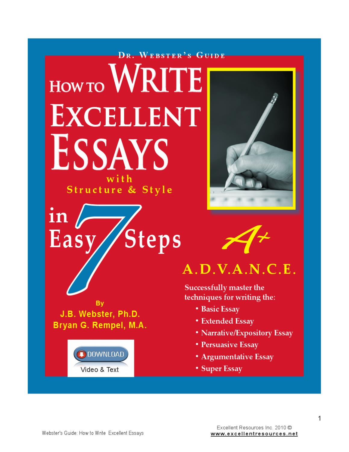 how to write excellent essays in easy steps by bev rempel issuu