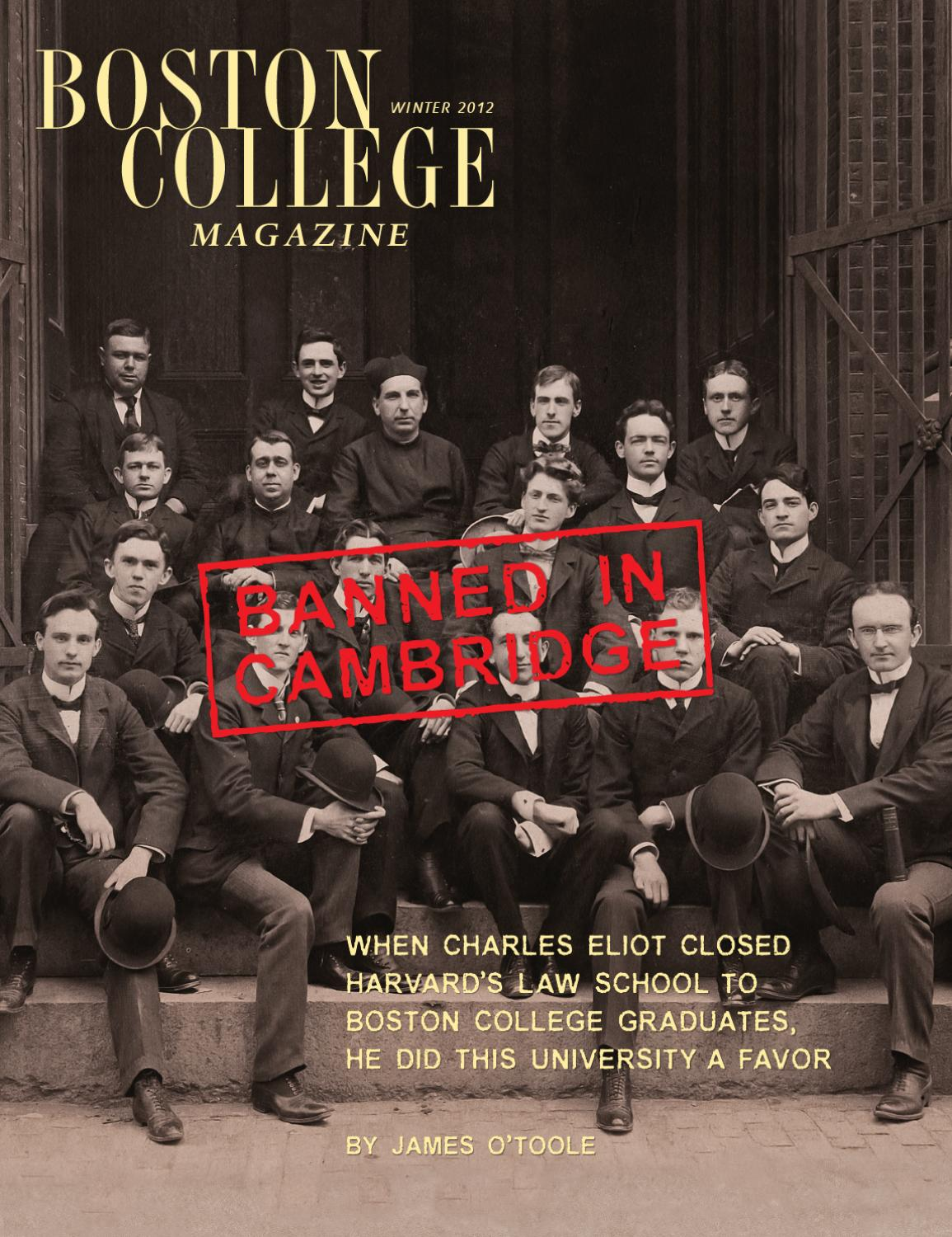 boston college magazine by boston college issuu boston college magazine winter 2012